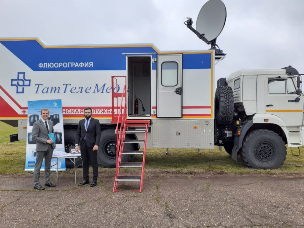 Заместителю председателя Правительства РФ Марату Хуснуллину продемонстрировали мобильный телемедицинский комплекс с искусственным медицинским интеллектом